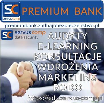 KOMPETENCJE EKSPERTÓW SERVUS COMP PREMIUM BANK