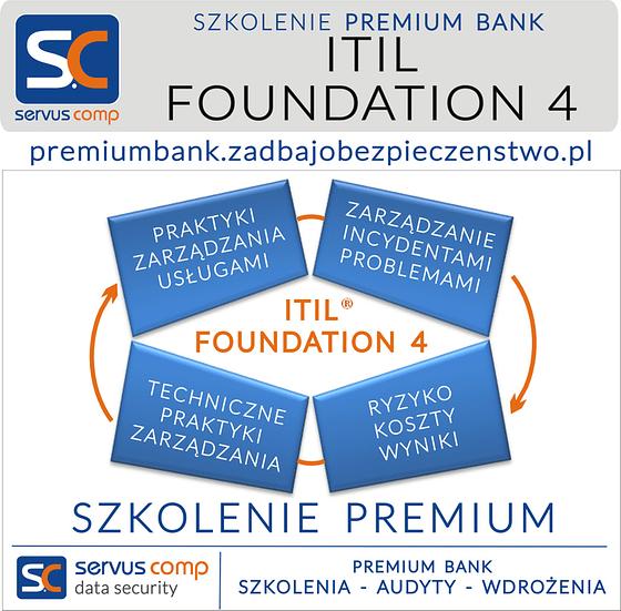 SZKOLENIE PREMIUM ITIL FOUNDATION 4 Servus Comp