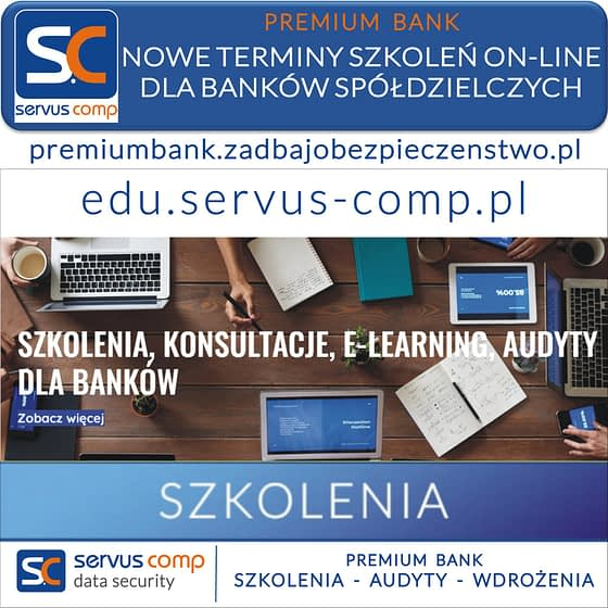NOWE TERMINY SZKOLEŃ E-LEARNING DLA BANKÓW SPÓŁDZIELCZYCH