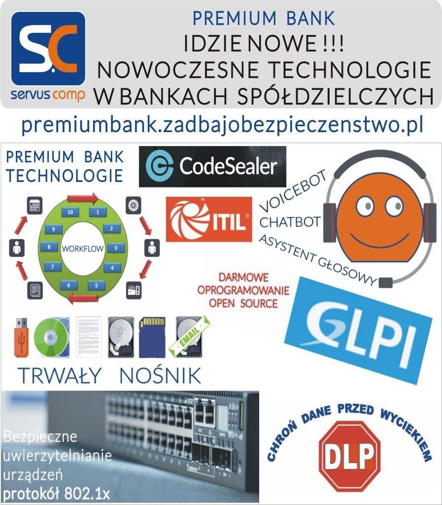 IDZIE NOWE! NOWOCZESNE TECHNOLOGIE W BANKACH SPÓŁDZIELCZYCH Servus Comp